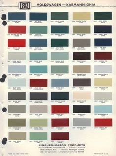 original paint colors vw vw original paint color chart cars i