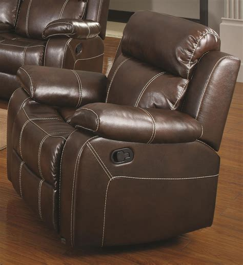 Brown Reclining Sofa Myleene Collection 603021 Brown Leather Reclining Sofa Loveseat Set