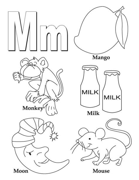Alphabet M Coloring Pages by My A To Z Coloring Book Letter M Coloring Page