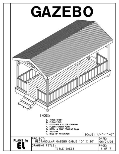 4 Sided Roof Construction 4 Sided Rectangular Gazebo With Gable Roof Building Plans