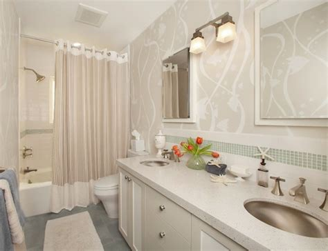 bathroom ideas with shower curtain making your bathroom look larger with shower curtain ideas
