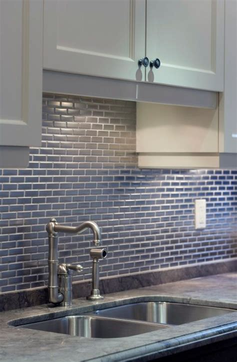 enchanting subway tiles in kitchen with stainless steel 73 best images about stainless steel tile on pinterest