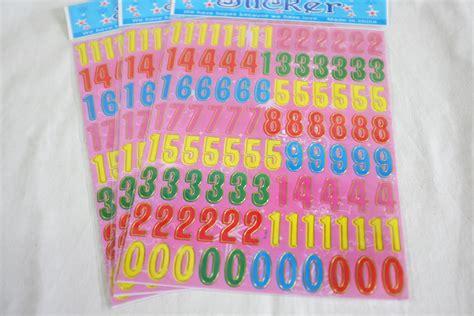 Kertas Untuk Membuat Stiker Jual Stiker Angka 0 9 Sticker Untuk Tempel Di Kertas