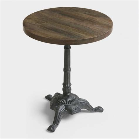 market table bistro reservations metal and wood bistro accent table world market