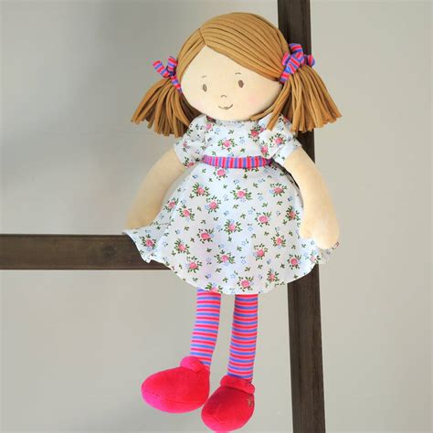 rag doll not on the high babies personalised katy rag doll by the alphabet gift