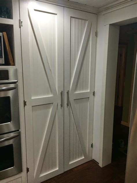 barn door pantry cabinet one thrifty diy barn style pantry doors