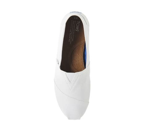 Toms Optic White Canvas Original Size 43 toms classic slip ons optical white canvas casual