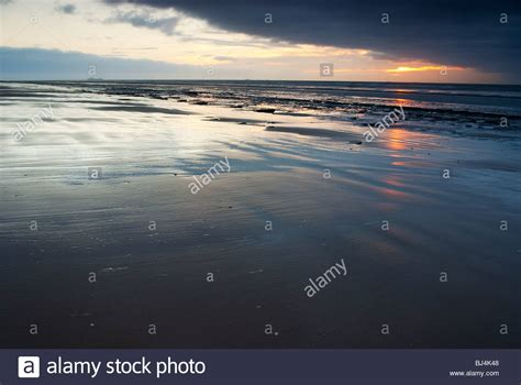 near liverpool sunset at formby near liverpool stock photo royalty