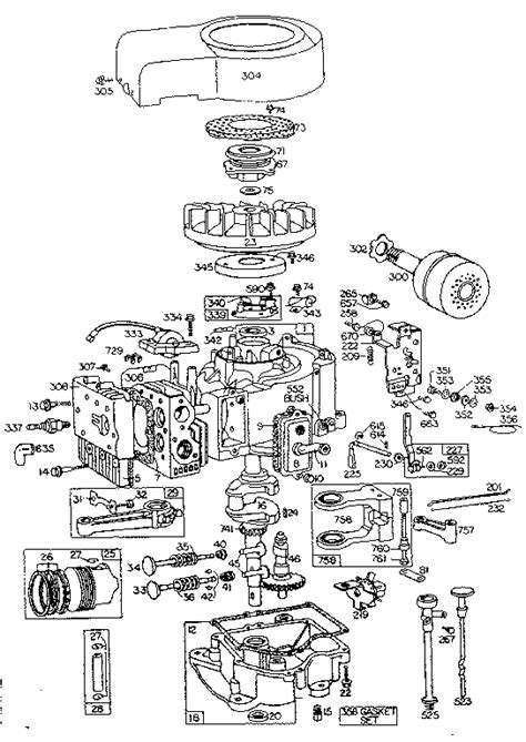 10 hp briggs and stratton carburetor diagram 8 best images of briggs and stratton ohv engine parts