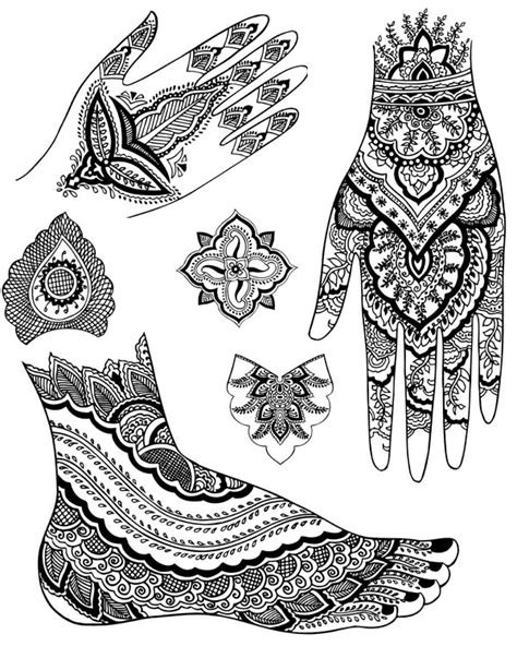 henna design worksheets welcome to dover publications
