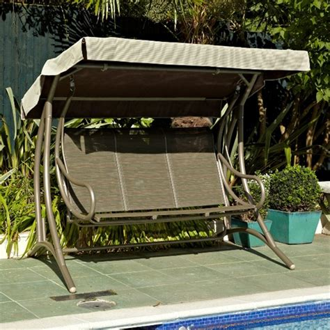 seat swings garden furniture leisuregrow patio furniture cordoba 3 seat swing bench