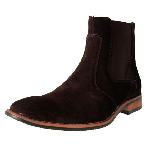 mens chelsea boots cheap slatters s suede chelsea pull on ankle boots reno