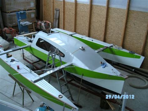 nicky explorer trimaran still taking shape in germany
