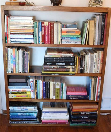 how to organize a bookshelf organizing san