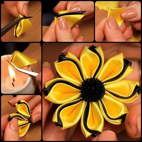 how to make kanzashi 25 best ideas about kanzashi flowers on pinterest