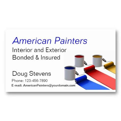 painter business card template free 15 best business cards for painters images on