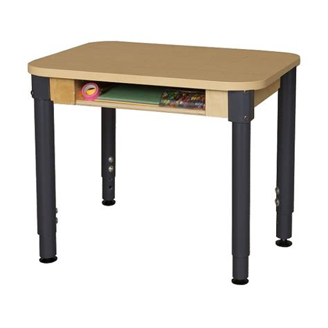 Wood Designs Wd1824dskhpla Student Desk W Adjustable Legs Adjustable Student Desk