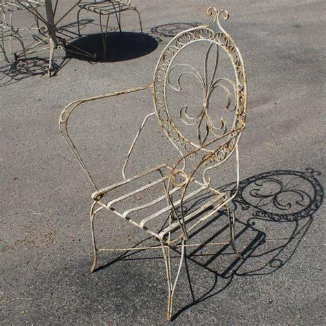 Fleur De Lis Patio Furniture Vintage Fleur De Lis Patio Dining Set At 1stdibs