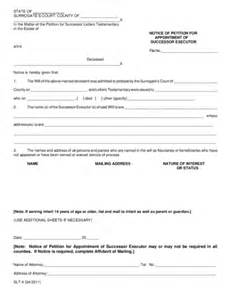 Appointment Letter Law Letter Of Appointment Of Executor Legalforms Org