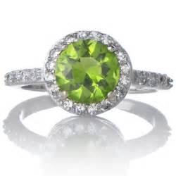 birthstone ring silvertone august green cz imitation birthstone ring