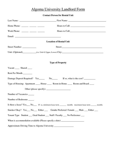 landlord contracts templates best photos of landlord tenant agreement form landlord