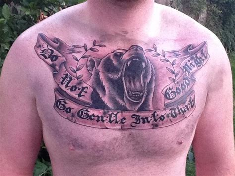 chest tattoo bear bear tattoos and designs page 216