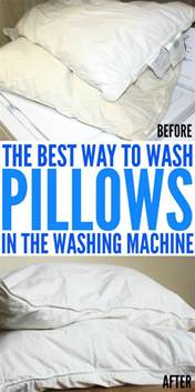 best way to clean washing machine best way to wash pillows in the washing machine