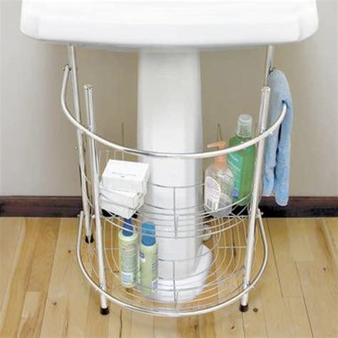 Diy Pedestal Sink Storage How To Create More Storage Space In The Bathroom Small Bathroom Sinks And Pedestal Sink