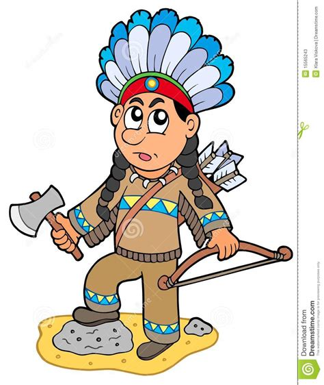 imagenes de simbolos indios indian boy with axe and bow stock vector illustration of