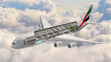emirates aircraft emirates unveils plans for the world s largest commercial