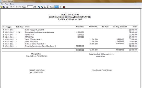 format buku kas umum dana desa sistem informasi keuangan dan anggaran desa sikdes v6 0