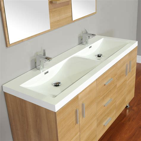 alya at 8043 lo 56 quot double modern bathroom vanity light oak