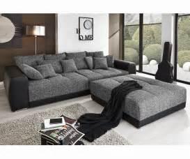 big sofa mit hocker big sofa valeska 310x135 schwarz mit hocker und kissen