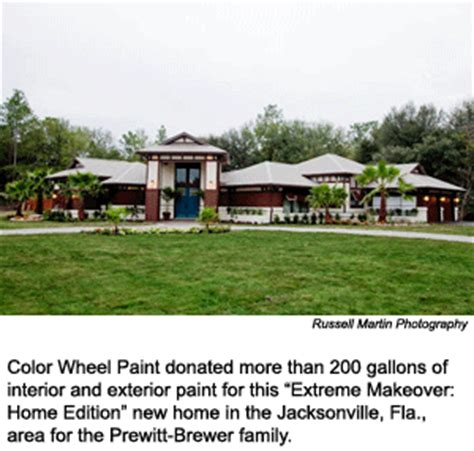 florida paint company plays supporting in makeover home edition projects