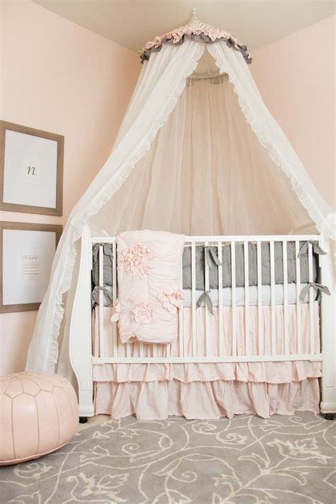 Corner Cribs For by Pink Nursery Design With Caddy Corner Crib And Tulle