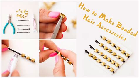 hairs pins with bead to decorate hairs how to make beaded hair accessories diy cute beaded bobby