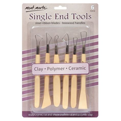 Mont Marte Clay Tool Set Modeling Clay Tools 11 Pcs mont marte 6 pce single end clay tool set