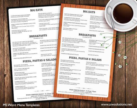 menu brochure template restaurant menu brochure templates creative market