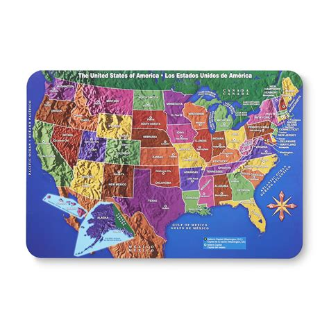 The Mat Usa by Educational Place Mat The United States Of America