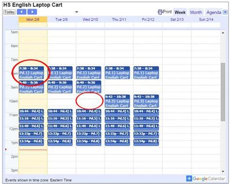 Uhd Mba Calendar by Pvhs Technology Calendars How To Use