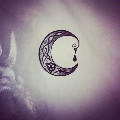 celtic moon tattoo celtic moon pictures to pin on tattooskid