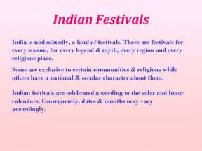 Indian Festivals Essay by Indian Cultural Diversity Festivals
