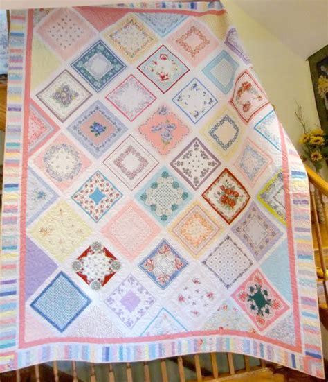 Handkerchief Quilt Pattern by 17 Best Images About Vintage Hankie Quilt On