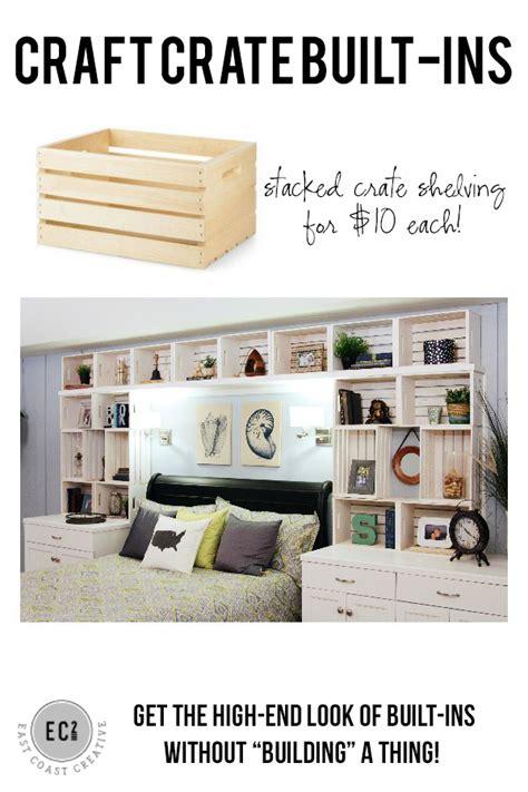 diy built in shelves craft crate built in shelving east coast creative