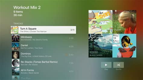 tv music plex on the new apple tv plex