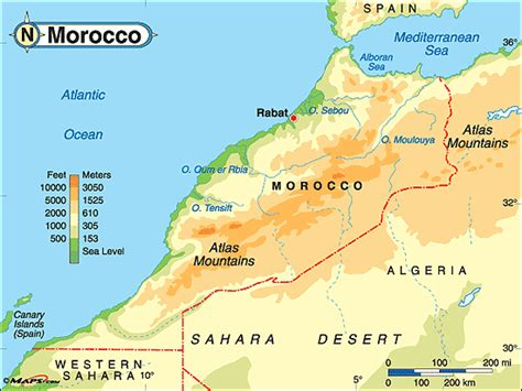 physical map of morocco africa258 morocco geography