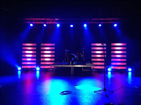 stage lighting design floating lines church stage design ideas