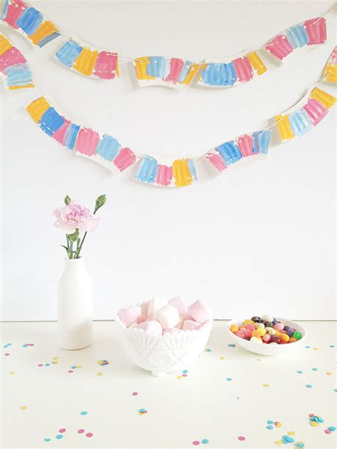 How To Make Paper Garland - how to make a paper plate garland pictures photos and