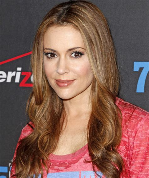 millisa milanos hair alyssa milano long wavy casual hairstyle
