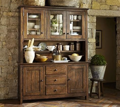 pottery barn china cabinet benchwright buffet